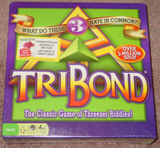 TRIBOND CLASSIC GAME OF THREEZER RIDDLES WINNING MOVES 2012 FACTORY SEAL... - $20.00