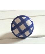 Ceramic Cabinet Door Knobs Dresser Knob Drawer Pulls Handles Blue White ... - $4.00