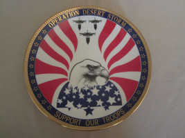 OPERATION DESERT STORM collector plate MILITARY - WAR Hamilton - $24.19