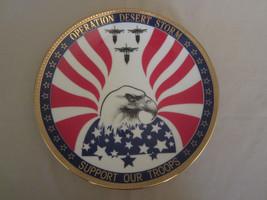 OPERATION DESERT STORM collector plate MILITARY - WAR Hamilton - $20.00