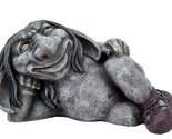 5.5 Inch Funny Face Gargoyle with Boots Laying Down Statue Figurine
