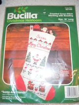 Bucilla Christmas Heirloom counted Cross Stitch Stocking with Beading New   - $8.99