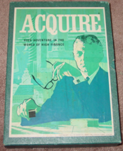 ACQUIRE FINANCE GAME 1962 3M COMPLETE EXCELLENT CLEAN UNPLAYED CONDITION - $60.00