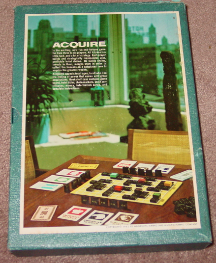 ACQUIRE FINANCE GAME 1962 3M COMPLETE EXCELLENT CLEAN UNPLAYED CONDITION