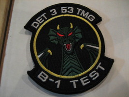 NEW US Air Force 53 Test & Evaluation Group Det 2 B-1 Test Vel-cro Patch - $11.99