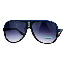 Soft Matte Finish Sunglasses Unisex Racer Aviator Fashion Shades - $9.95