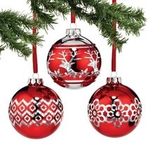 Peppermint Forest Red Plated Ball Ornament