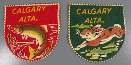 2 Vintage Patches Calgary ALTA Screen Printed on Felt - $19.95