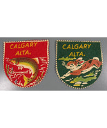 2 Vintage Patches Calgary ALTA Screen Printed o... - $19.95