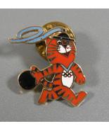 1988 Seoul Korea Olympic Lapel Pin Hodori Mascot Tiger Bowling - $9.95