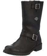 New-Davidson Mens Randy Motorcycle Boots with Zipper Riding Shoes D93261 - $119.00