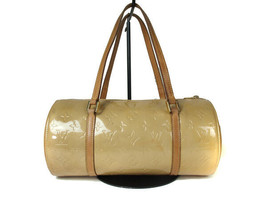 Authentic LOUIS VUITTON BEDFORD Beige Patent Leather Hand Bag Purse LH10... - $179.00