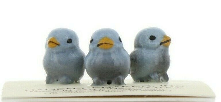 Hagen Renaker Miniature Bird Bluebird Tweety Baby Chicks Set of 3 Figurines