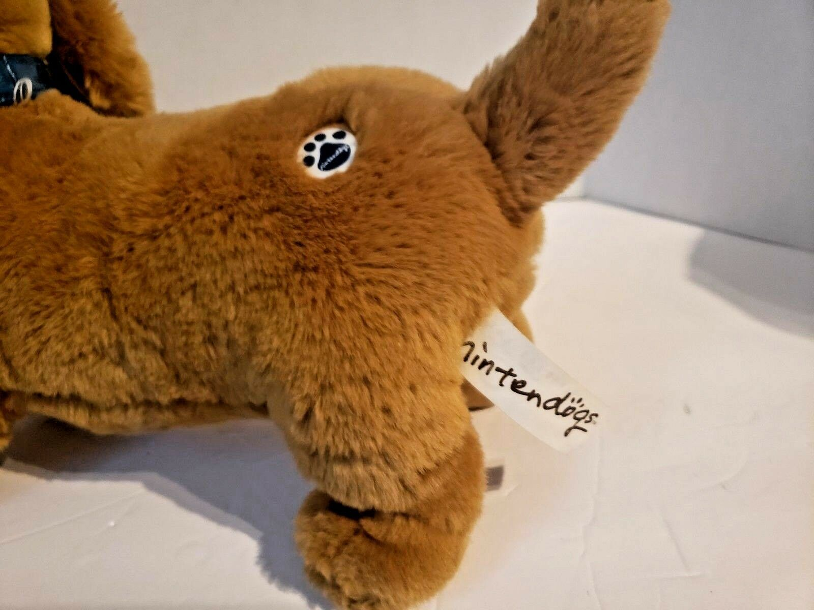 "Nintendogs interactive Dachshund 14"" Plush toy, tested and working"