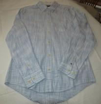 Men's Tommy Hilfiger Long Sleeve shirt M Custom Fit 78B6388 073 blue white - $58.66