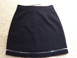 "NEW ESLEY Washable Black with hem detail SKIRT sz S SMALL 27"" Waist Free... - $11.42"