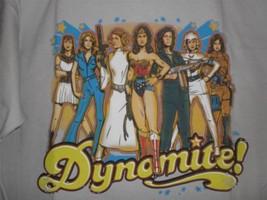 """TeeFury Geek Girls LARGE """"Dynomite!"""" 70's Women Sci-Fi Icons Shirt GRAY - $20.00"""