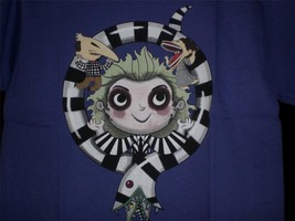 "TeeFury Beetlejuice YOUTH LARGE ""Third Time's A Charm"" Sand Worm Shirt P... - $11.00"