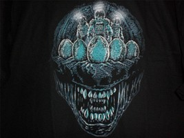 "TeeFury Aliens LARGE Shirt ""Deep Space Terror"" Aliens Tribute Shirt BLACK - $16.00"