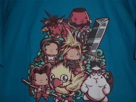 "TeeFury Final Fantasy LARGE ""Cute Fantasy VII"" Tribute Shirt TURQUOISE - $20.00"