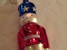 Nutcracker soldier red white blue Glass Holiday Ornament Old German Christmas image 6