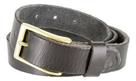"Men's Vintage Style Full Grain Leather 1-1/8"" Wide Belt (Black, 46) - $22.72"
