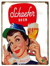Schaefer Beer Nostalgic Advertisement Bar Sign - $19.80