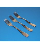 "Oster Glossy Set of 3 Salad Forks 7"" Stainless Flatware Mirror Unknown P... - $12.99"