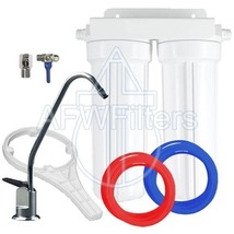 Drinking Water Filter 2 stage undersink sediment carbon with faucet - $86.39