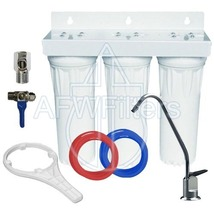 Drinking Water Filter 3 stage undersink sediment GAC carbon with faucet - $106.14