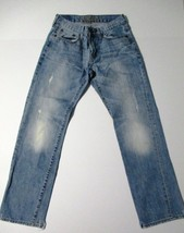 American Eagle Outfitters 28x30 Slim Straight 5 Pocket Distressed Jeans - $17.99