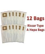12 Riccar Type A HEPA Vacuum Bags (12pk) *Fits Riccar 2000 & 4000 Vibran... - $16.09