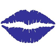 Kiss Wall Decal Sticker - Kissing Lips Decoration Mural - Decal Stickers... - $15.00