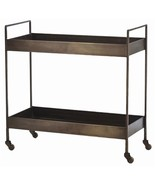 IRON BAR CART, Antique Brass Finish, INDUSTRIAL... - $1,199.00