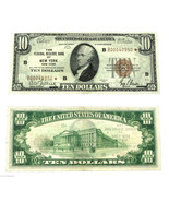 1929 STAR Ten Dollar $10 1860 B New York Federal Reserve National Bill Note - $798.85