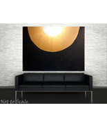 Black White Gold Minimalist Painting 36 x 48 Ex... - $1,500.00