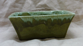 Vintage Mid Century Green Drip Glaze Planter //... - $8.00