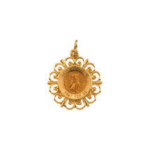 St. Peregrine Medal In 14K Yellow Gold - $178.19