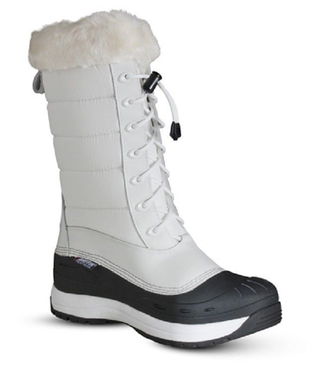New Ladies Size 7 White Baffin Iceland Snowmobile Winter Snow Boots Rated -40F