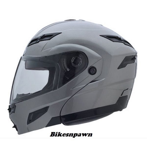 XL GMax GM54S Titanium LED Modular Motorcycle Helmet