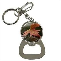 Red Maple In Autumn Bottle Opener Keychain - $6.74