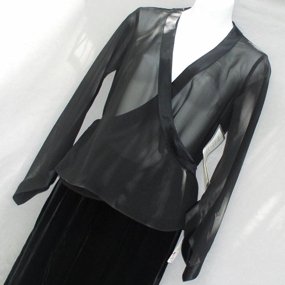 Evan-Picone Black Sheer Over Jacket Formal Size 4