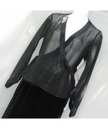 Evan-Picone Black Sheer Over Jacket Formal Size 4 - $21.00