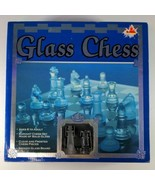 """Cardinal Glass Chess & Checkers Set 10"""" Smoked Board w/ Clear & Frosted ... - $28.05"""