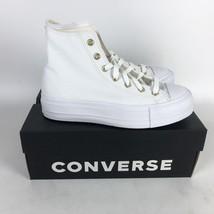 Converse CTAS Lift High Sneaker Womens Size 7.5 White Gold 568380C - $128.70