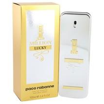 1 Million Lucky by Paco Rabanne Eau De Toilette Spray 3.4 oz for Men #54... - $72.68