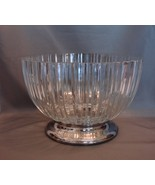 Godinger Heavy Fine Crystal Glass Bowl with Silverplated base Made in Italy - $30.99