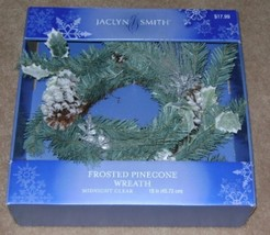 Jaclyn Smith, Midnight Clear - Frosted Pinecone Wreath.  - €16,06 EUR