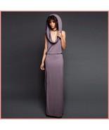 Hooded Purple or Black Casual Sleeveless Jersey Tank Side Slit Tunic Bea... - $67.95