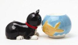 Magnetic Salt and Pepper Shaker - Cat & Fish - $12.86